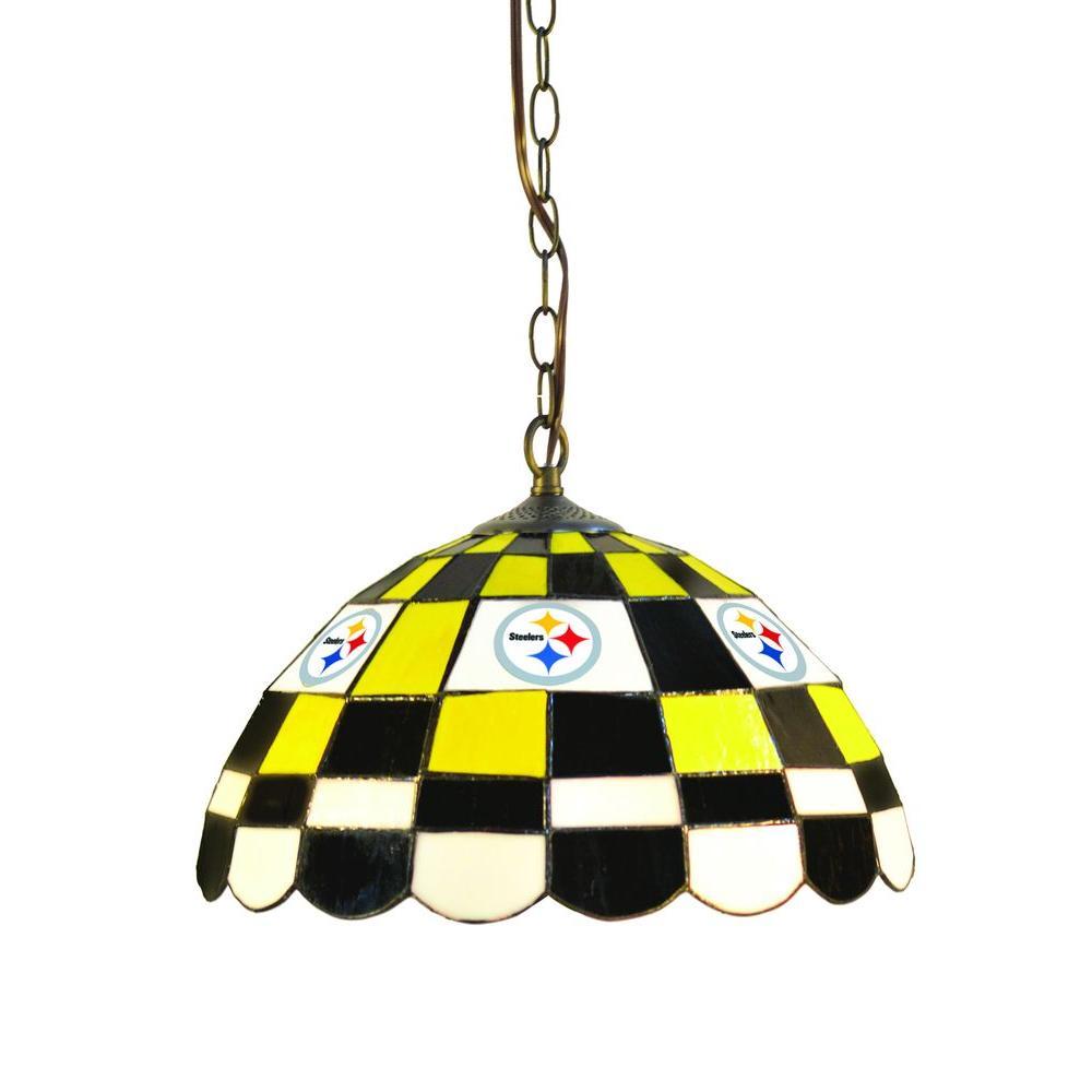 IMPERIAL Pittsburgh Steelers 1-Light Tiffany Pub Light