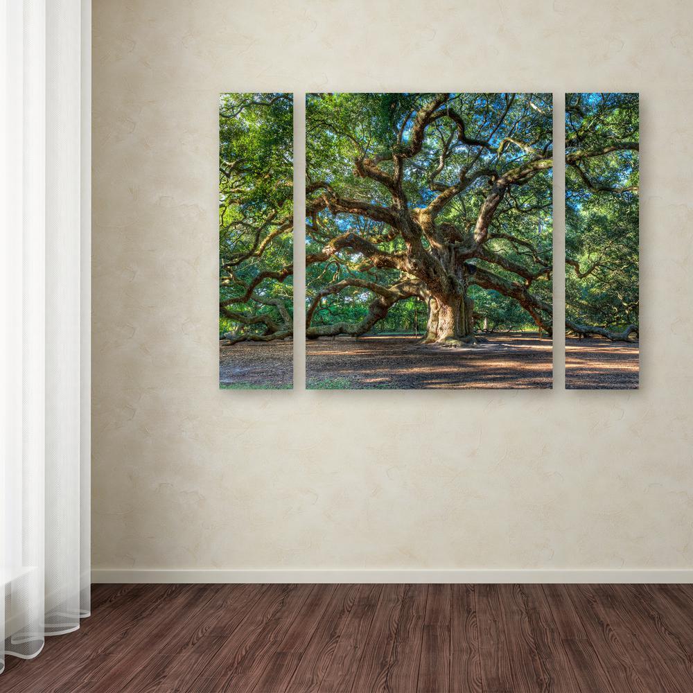 "30 in. x 41 in. ""Angel Oak Charleston"" by Pierre Leclerc Printed Canvas Wall Art"