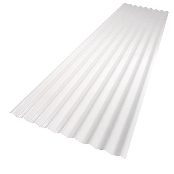 Palruf 26 In X 8 Ft White Pvc Roof Panel 101336 The Home Depot