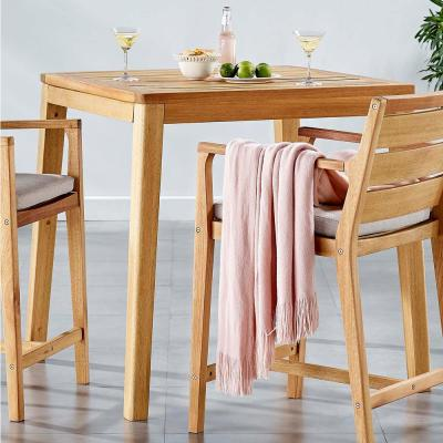 Portsmouth Karri Wood Bar Height Outdoor Dining Table in Natural