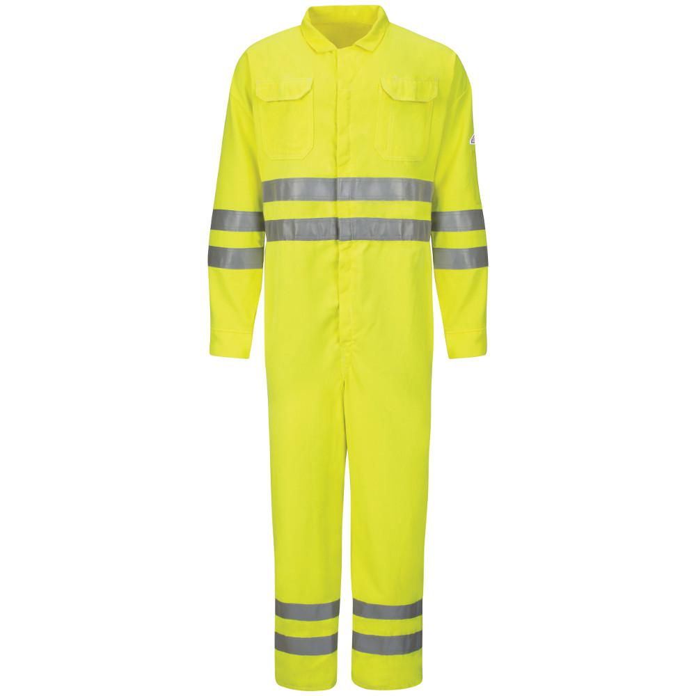 CoolTouch 2 Men's Size 42 Yellow / Green Hi-Vis Deluxe Coverall