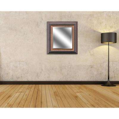 Reflection 27 in. x 23 in. Bevel Style Framed Mirror in Brown and Bronze Finish