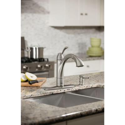 Walden Single-Handle Pull-Out Sprayer Kitchen Faucet with Reflex and Power Clean in Spot Resist Stainless