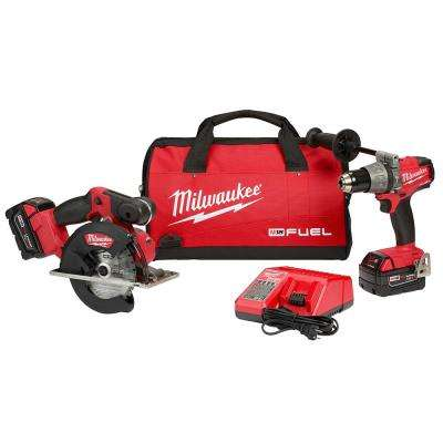 M18 FUEL 18-Volt Cordless Lithium-Ion Hammer Drill/Driver and Metal Circular Saw Combo Kit