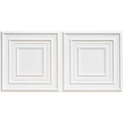Schoolhouse 2 ft. x 4 ft. PVC Lay-in Ceiling Tile in White Matte