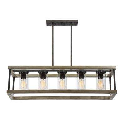5-Light Weathervane Outdoor Hanging Chandelier
