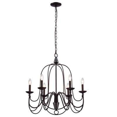 Blakely 6-Light Chandelier in Matte Black