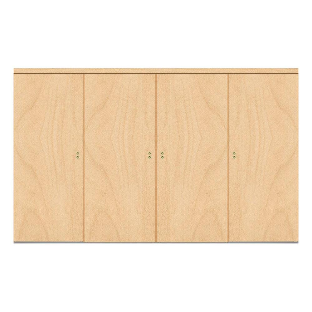 144 in. x 96 in. Smooth Flush Stain Grade Maple Solid