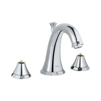 Kensington 8 in. Widespread 2-Handle 1.2 GPM Bathroom Faucet in StarLight Chrome (Handles Sold Separately)
