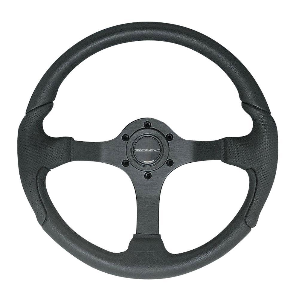 Uflex Steering Wheel - Black Grip with Black Spokes