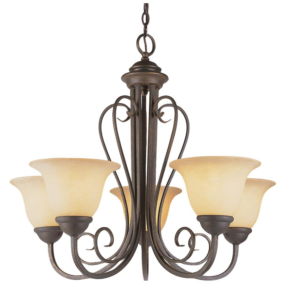 Laredo 5 light antique bronze chandelier with crushed stone glass laredo 5 light antique bronze chandelier with crushed stone glass shades arubaitofo Image collections