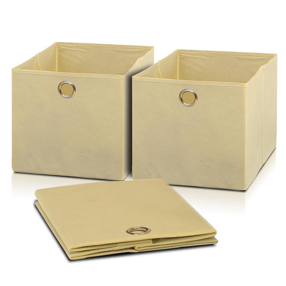 Furinno Laci Storage Bin in Ivory (3-Pack)