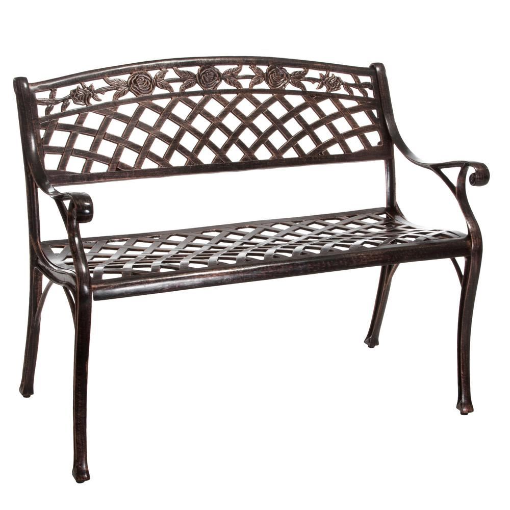 Hamilton 40 in. Copper Aluminum Outdoor Bench