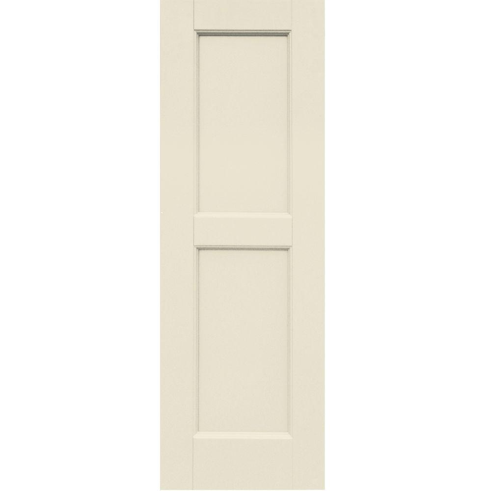 Winworks Wood Composite 12 in. x 36 in. Contemporary Flat Panel Shutters Pair #651 Primed/Paintable