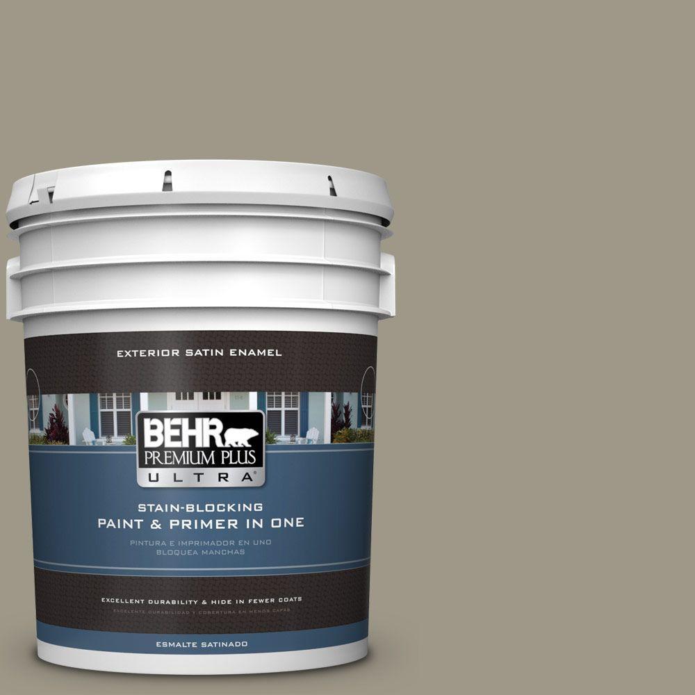 BEHR Premium Plus Ultra 5-gal. #PPU8-20 Dusty Olive Satin Enamel Exterior Paint