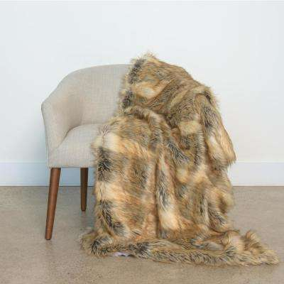 Amber Fox Faux fur Throw 54 in. x 36 in.