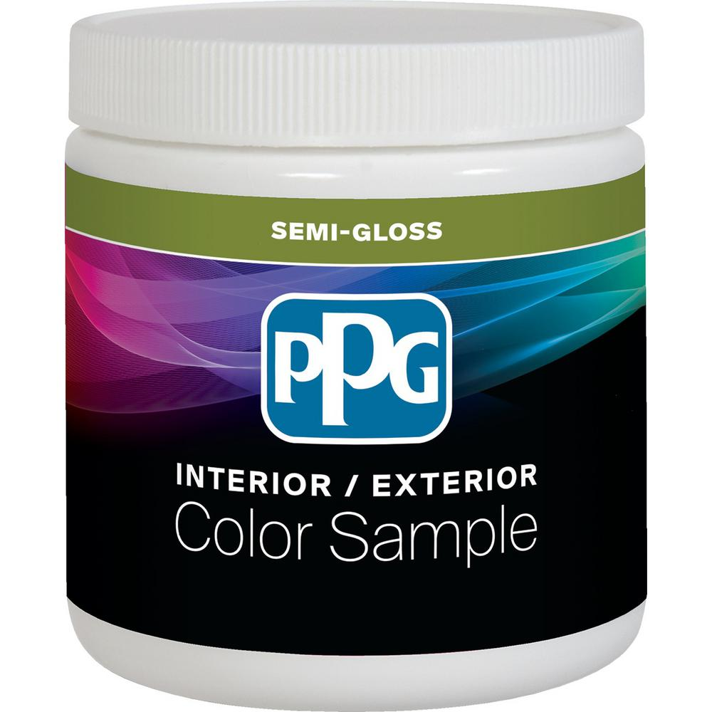 Ppg Timeless 8 Oz Pure White Base 1 Semi Gloss Interior Paint Sample With Primer Ppgu83 510 16