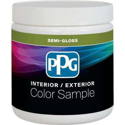 8 oz. Pure White/Base 1 Semi-Gloss Interior Paint Sample with Primer