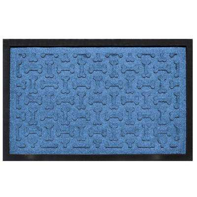 Medium Blue 18 in. x 27 in. Dog Treats Boot Tray
