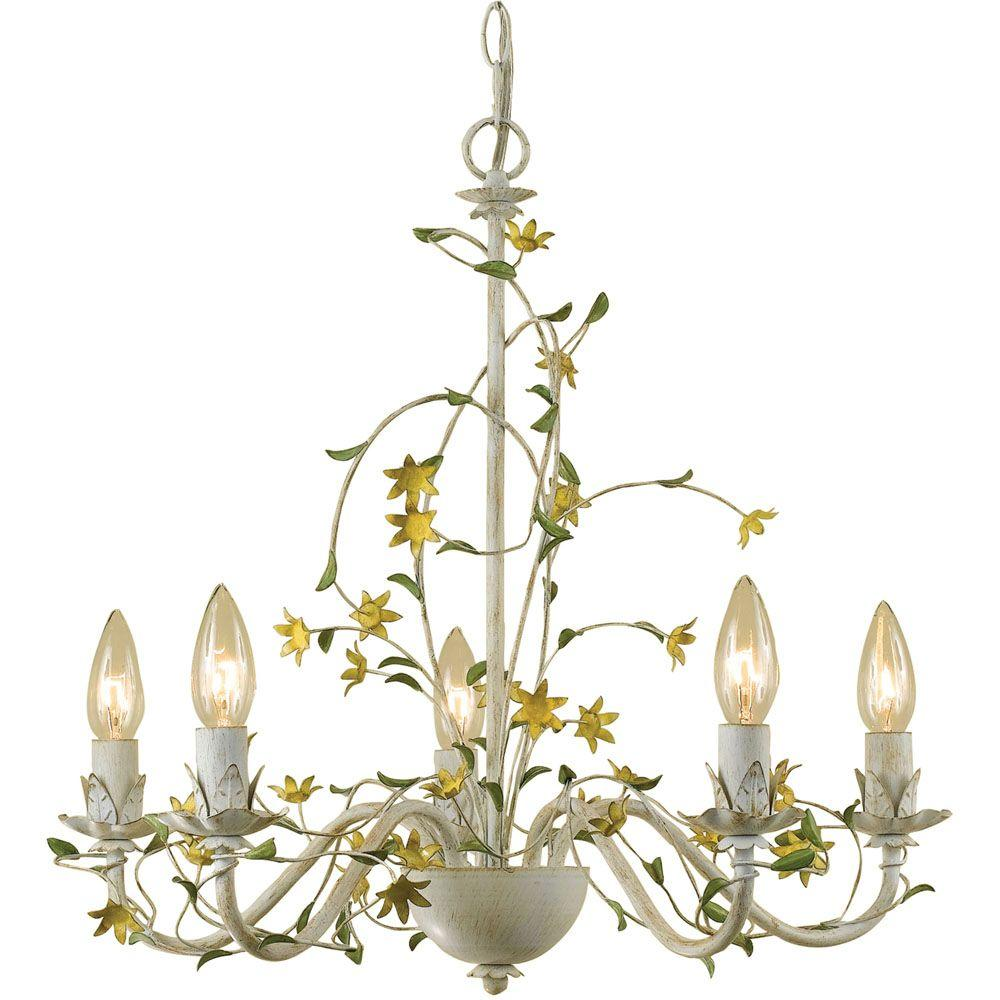 Af Lighting Grace 5-Light Cream Star Flower Chandelier