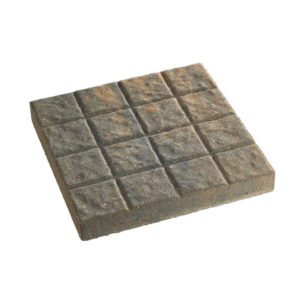 Anchor 16 in. x 16 in. Charcoal/Tan Cobblestone Concrete Step Stone