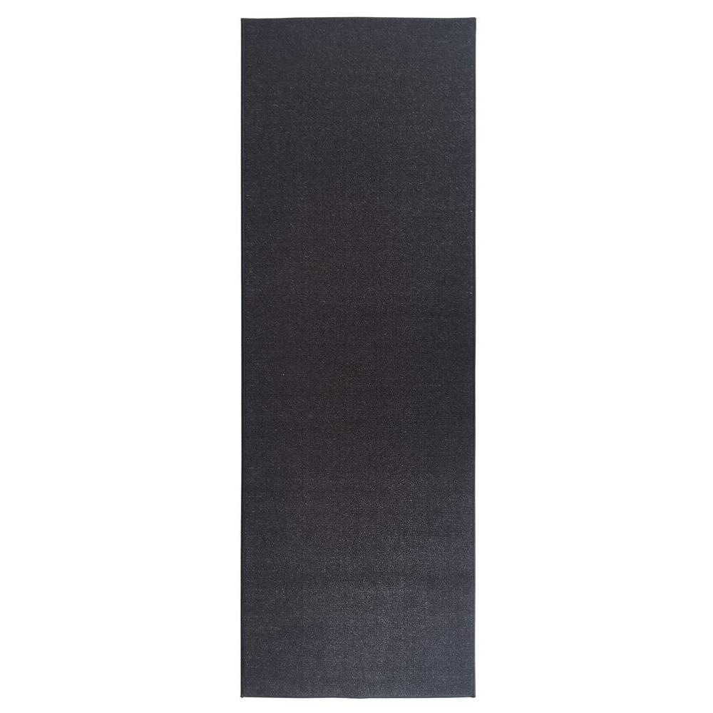 Ottohome Collection Carpet Aisle Design Black 2 ft. x 5 ft. Runner Rug
