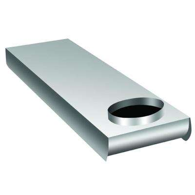 Space Saver Aluminum Duct 90 Degree Inlet / 90 Degree Outlet