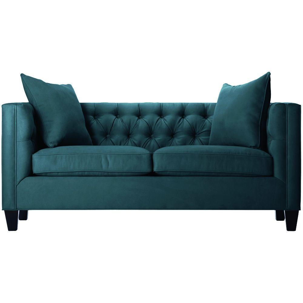 home decorators collection lakewood bella lagoon polyester sofa 1310710330 the home depot. Black Bedroom Furniture Sets. Home Design Ideas