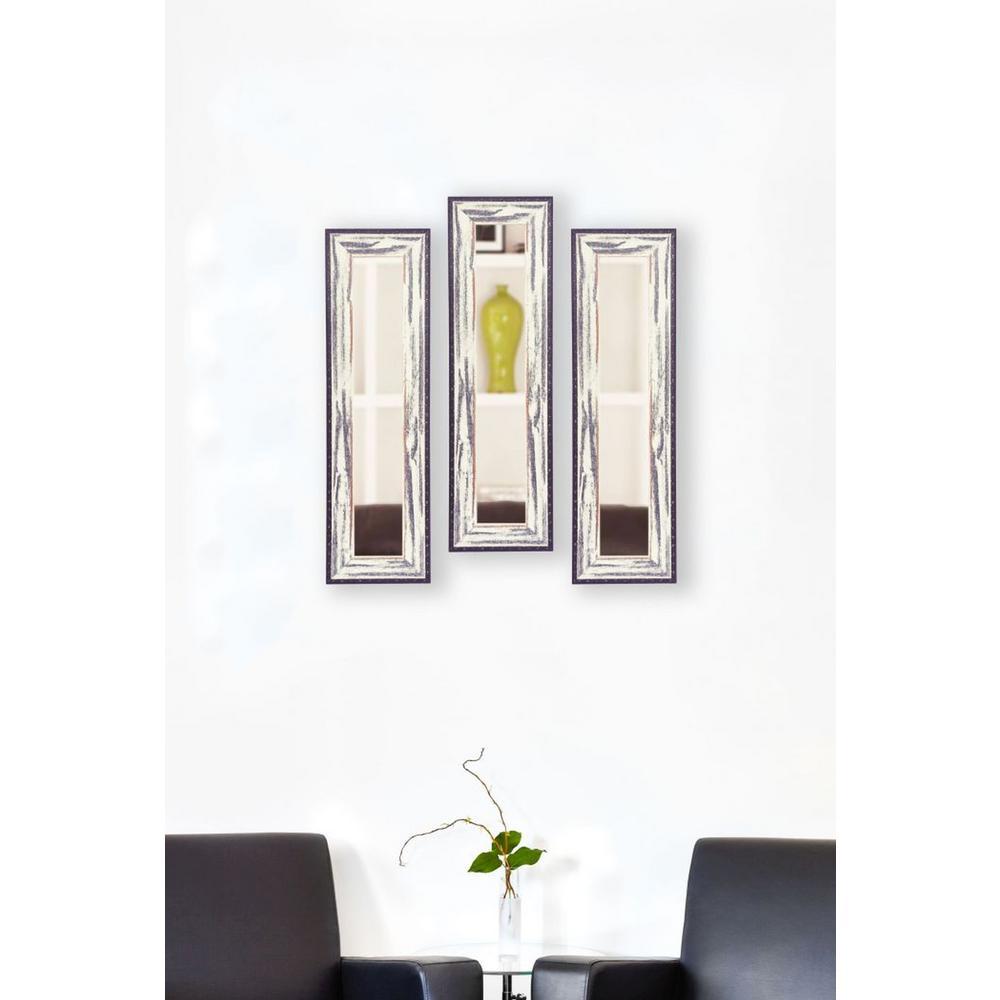 11.5 inch x 32.5 inch Rustic Seaside Vanity Mirror (Set of 3-Panels) by