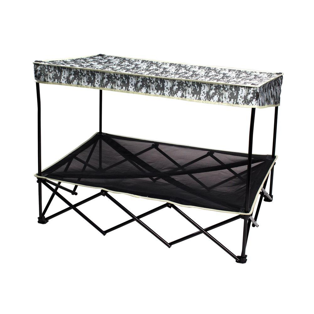 Quik Shade 30 in. x 42 in. Large Digital Camo Instant Pet Shade with Mesh Bed