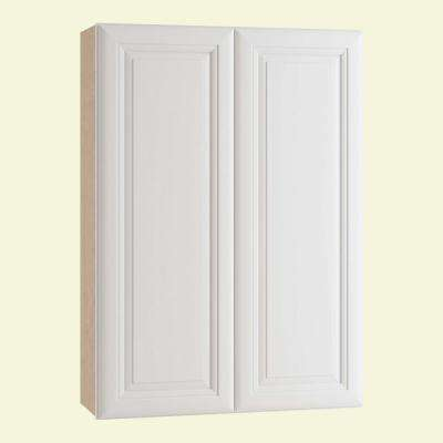 Brookfield Assembled 30x42x12 in. Double Door Wall Kitchen Cabinet in Pacific White