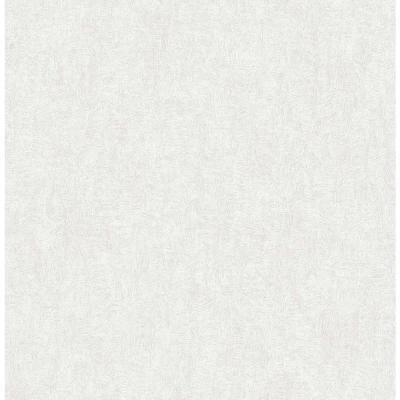 56.4 sq. ft. Ludisia Silver Brushstroke Texture Wallpaper
