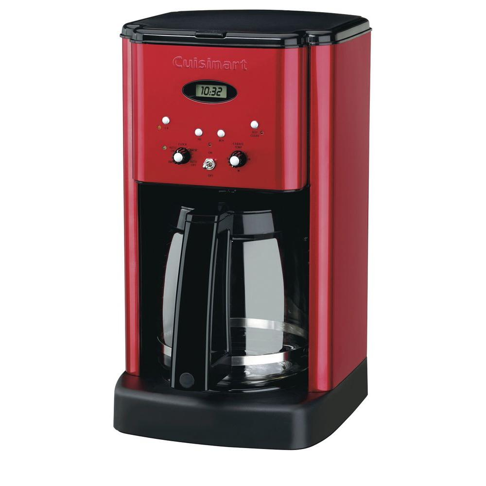 Cuisinart Brew Central 12-Cup Programmable Coffeemaker in Metallic Red-DISCONTINUED