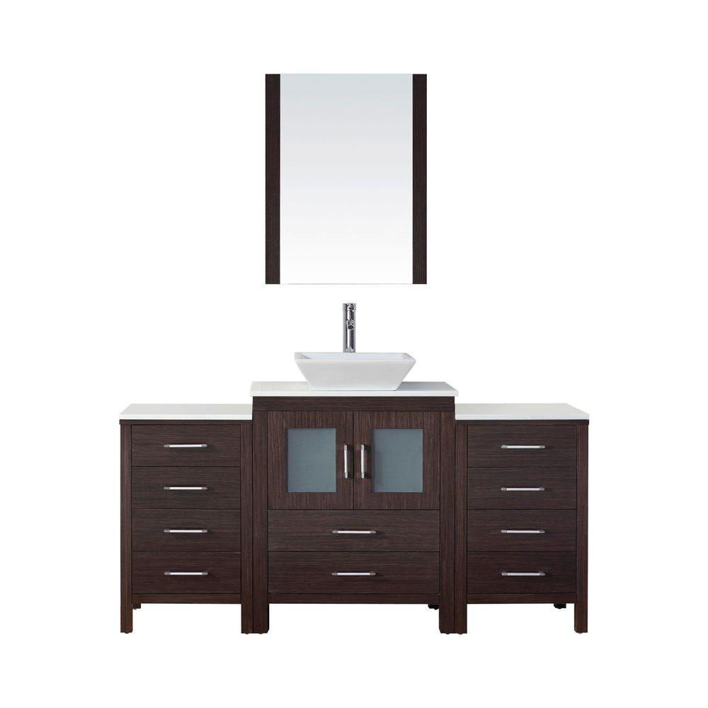Dior 64 in. W x 18.3 in. D Vanity in Espresso