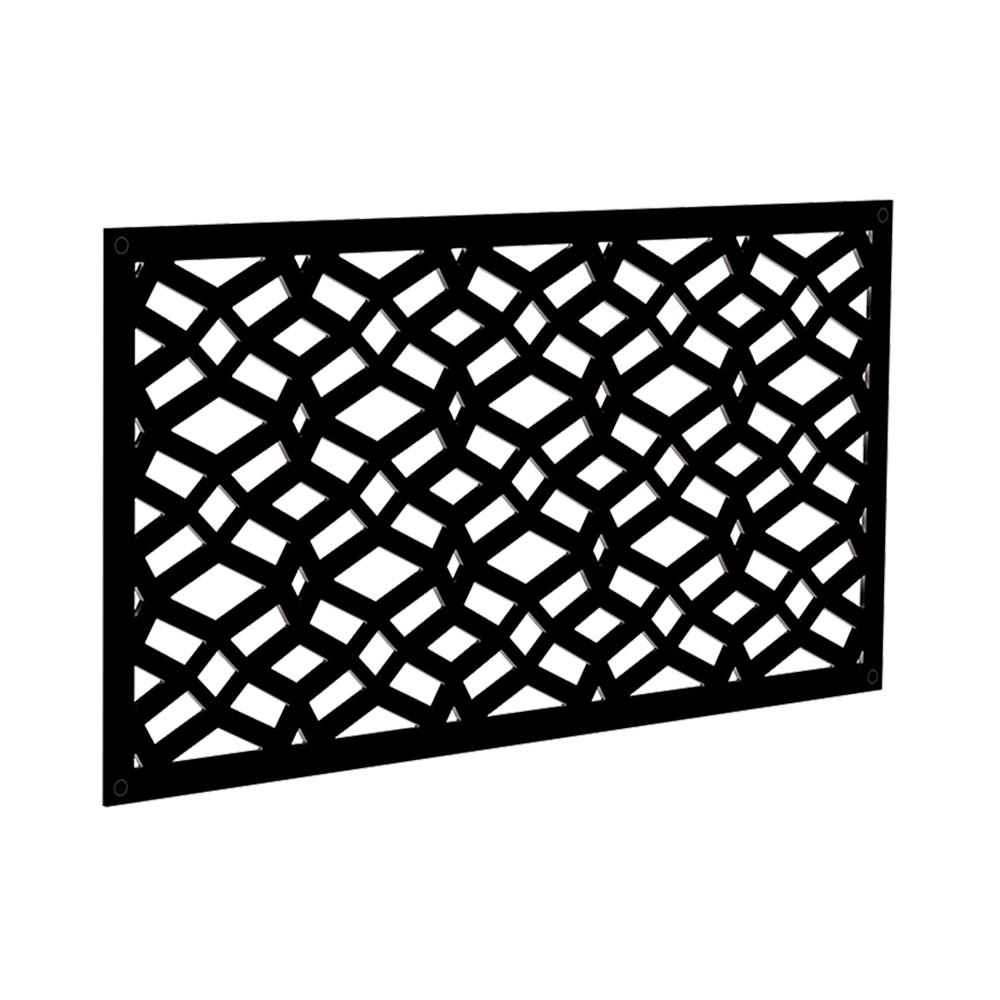 4 ft. x 2 ft. Black Celtic Polymer Decorative Screen Panel