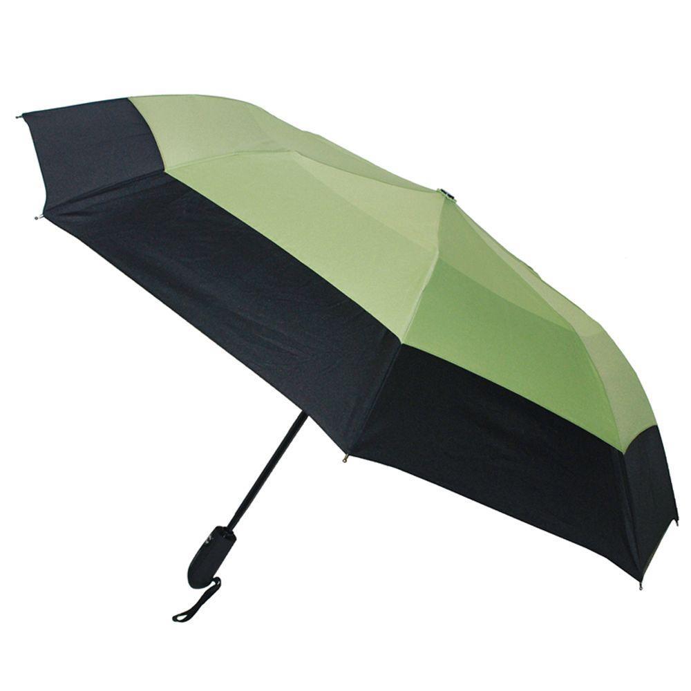 46 in. Arc Windguard Auto Open Auto Close Sport Umbrella in Black/Lime