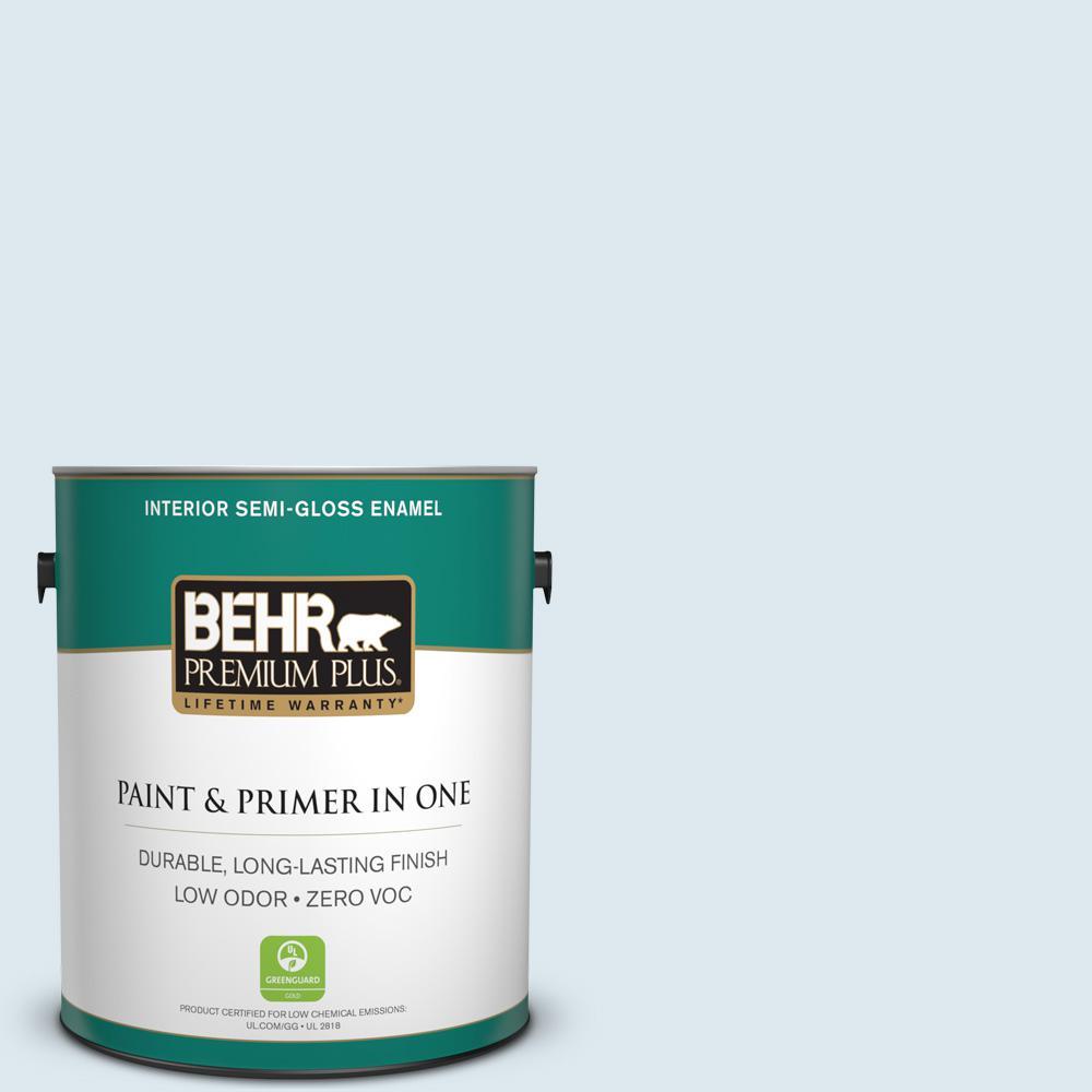 BEHR Premium Plus 1-gal. #540E-1 Wave Crest Zero VOC Semi-Gloss Enamel Interior Paint
