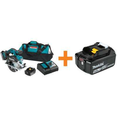 18-Volt 5 Ah LXT Lithium-Ion Cordless 5-7/8 in. Metal Cutting Saw Kit with BONUS 18-Volt LXT Battery Pack 5 Ah