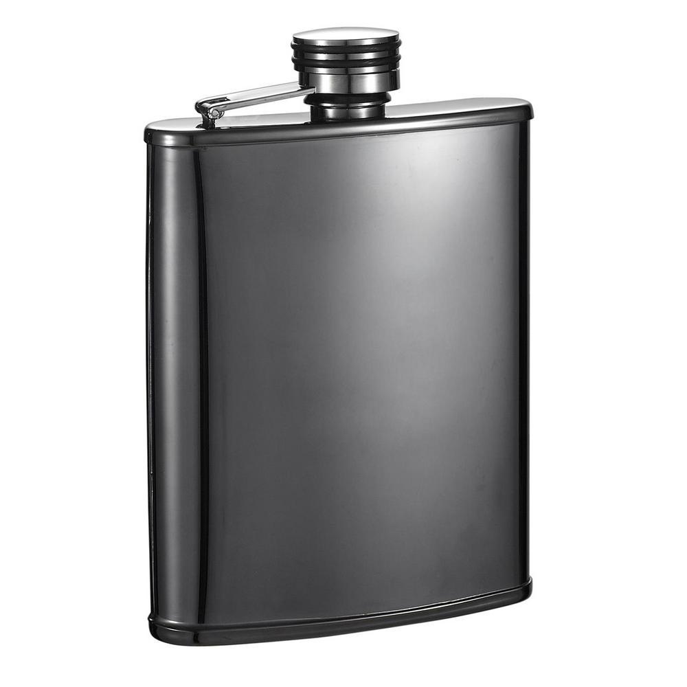 Outlaw II Gunmetal Tall Liquor Flask