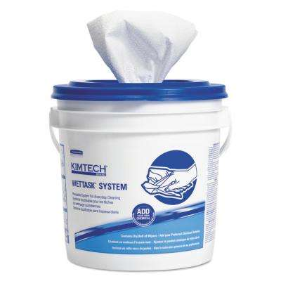 WetTask 12 in. x 12.5 in. System-Bleach/Disinfectant/Sanitizer with Bucket (90/Roll, 6 Roll/Carton)