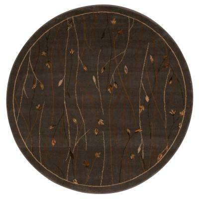 Ariel Blue 5 ft. x 5 ft. Round Area Rug