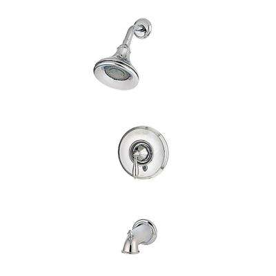 Portola Single-Handle Tub and Shower Faucet Trim Kit in Polished Chrome (Valve Not Included)