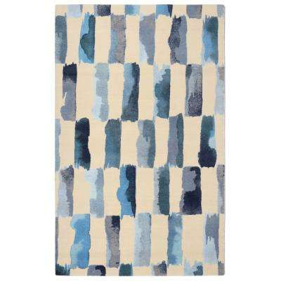 Painted Weave Contemporary Modern Turquoise 5 ft. x 7 ft. Area Rug