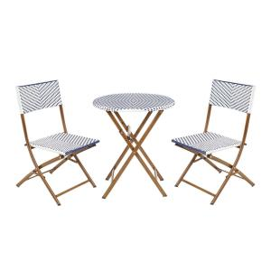 Deals on Hampton Bay French Caf 3-Piece Outdoor Folding Bistro Set