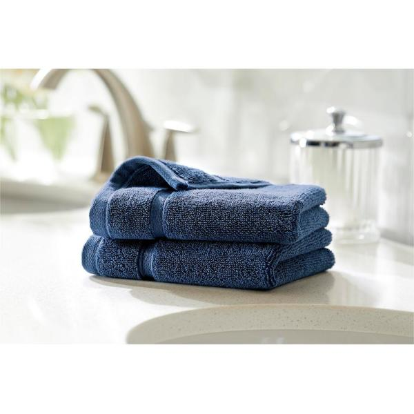 Home Decorators Collection Turkish Cotton Ultra Soft Wash Cloth in Navy