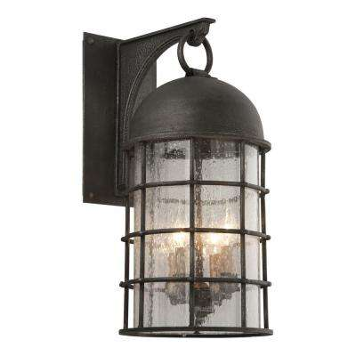 Charlemagne 4-Light Aged Pewter Outdoor Wall Lantern Sconce