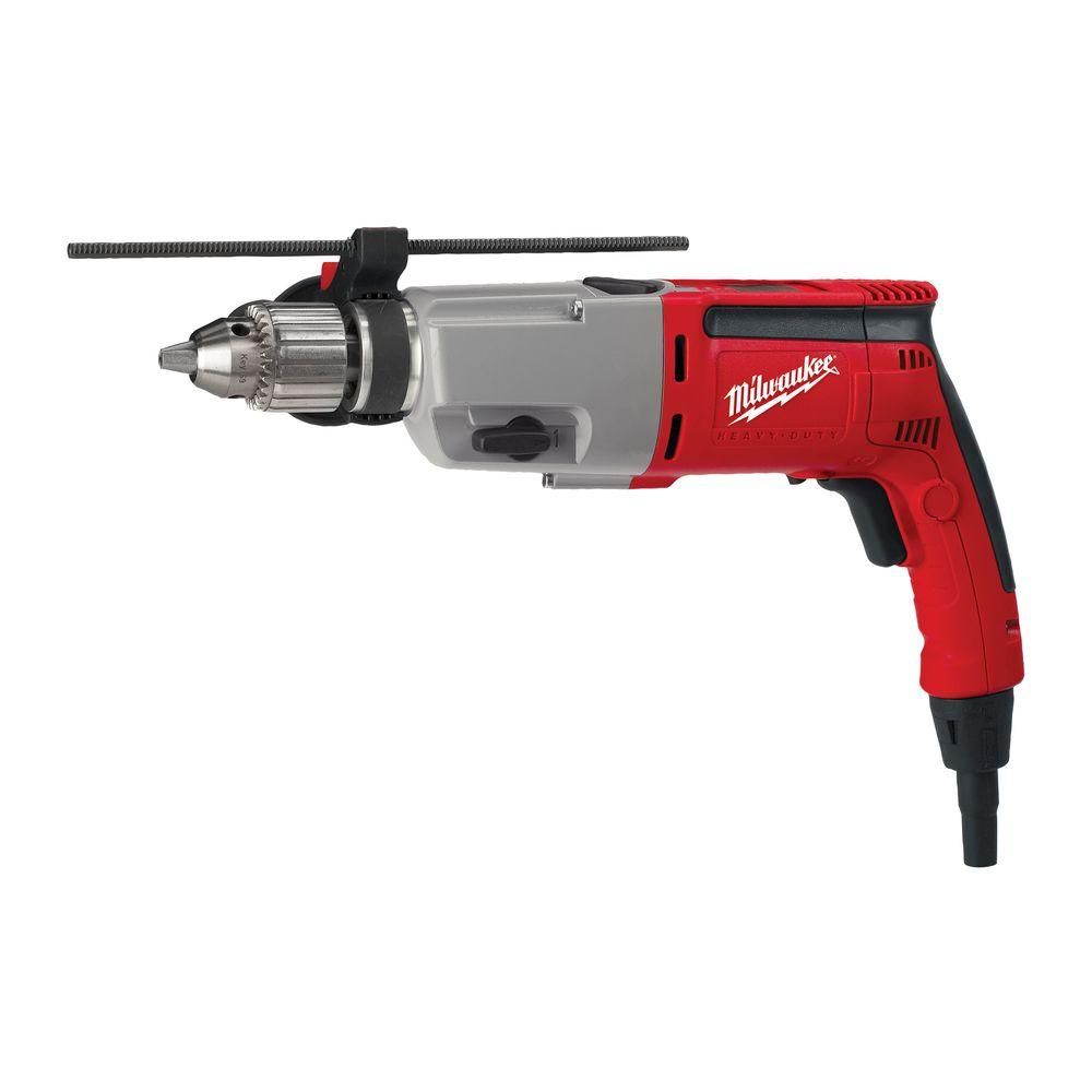 milwaukee 8 amp 1/2 in. dual speed hammer drill-5387-20 - the home depot