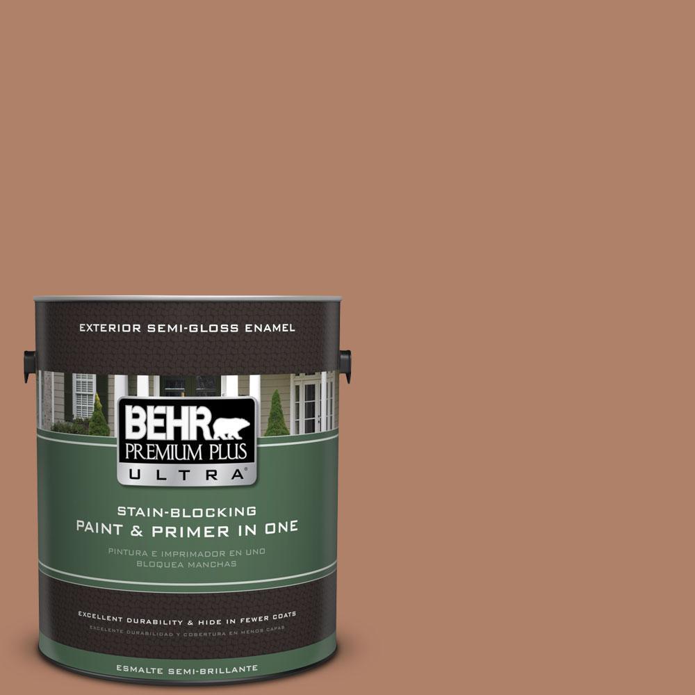 BEHR Premium Plus Ultra 1-gal. #S210-5 Cider Spice Semi-Gloss Enamel Exterior Paint