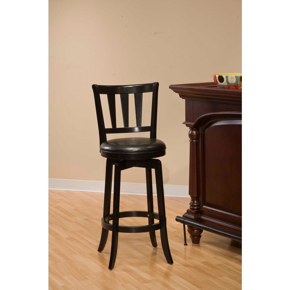 Hillsdale Furniture Presque Isle 395 In Black Swivel Cushioned Bar