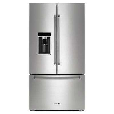23.8 cu. ft. French Door Refrigerator in PrintShield Stainless Steel, Counter Depth